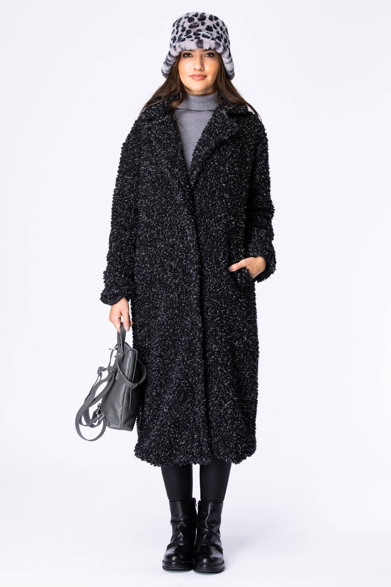 Langer Fake Fur Oversize Mantel - La Strada
